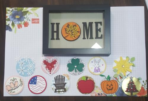 HOME framed art